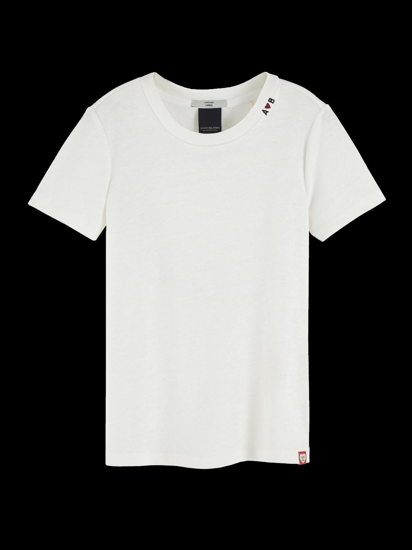 Girls Basic Linen Blend T-Shirt