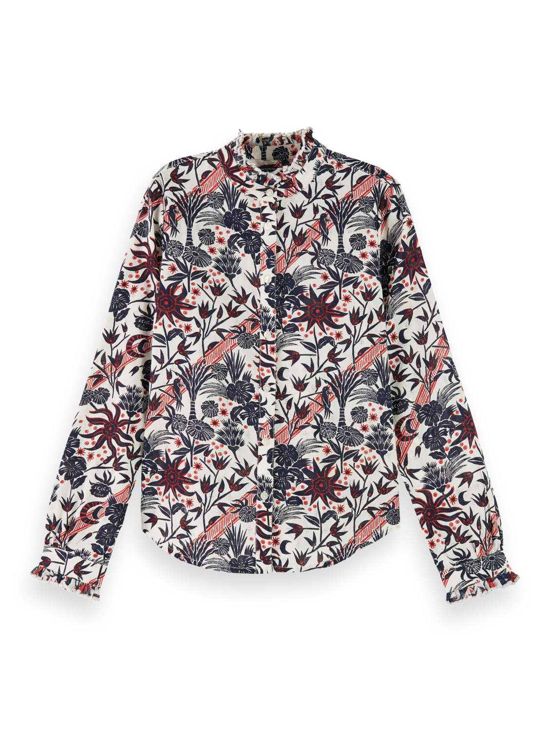 Flickor Sustainable cotton long sleeve shirt