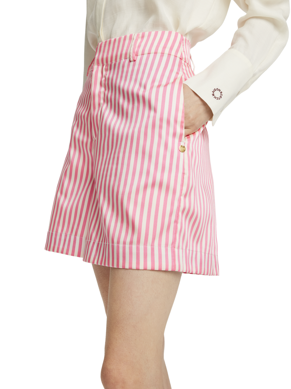 Women Pink striped shorts