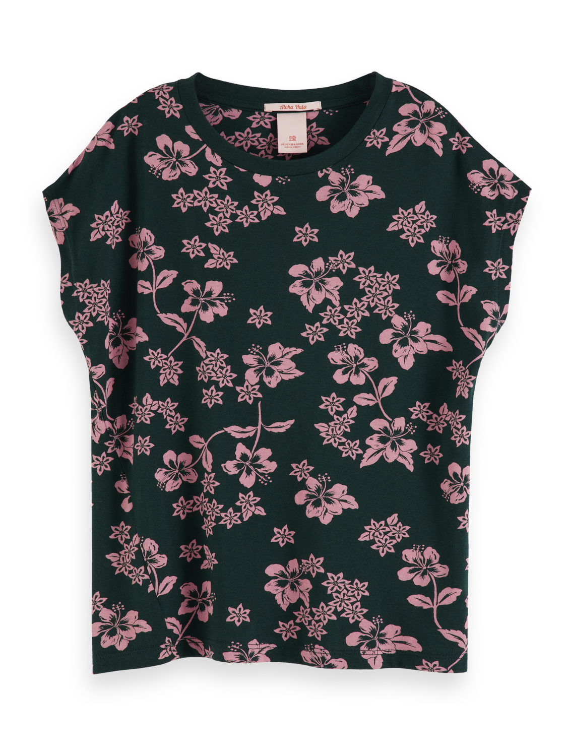 Girls Hawaiian floral print t-shirt