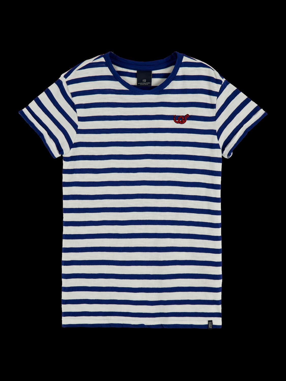 Flickor Organic cotton striped short sleeve t-shirt