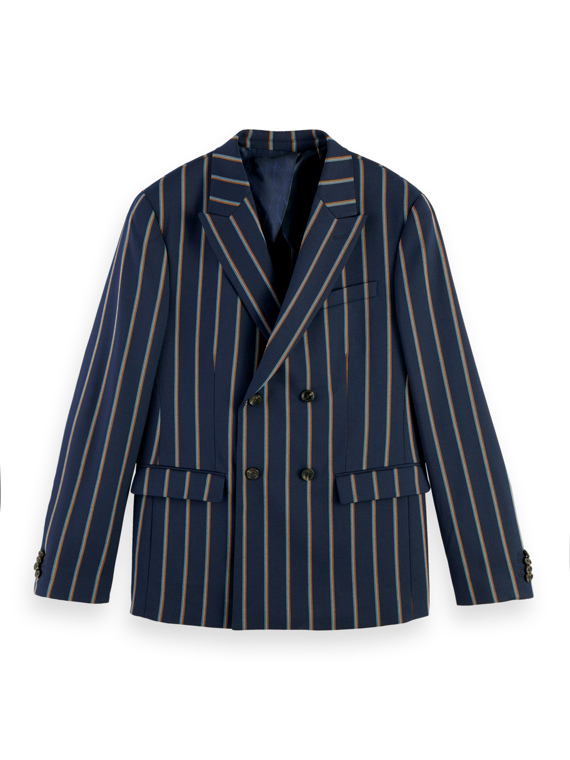 Men Double breasted wool blend blazer