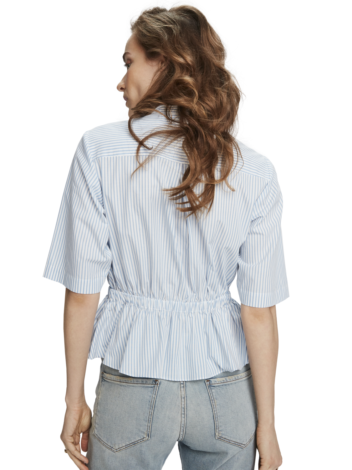 Women Gathered waist shirt
