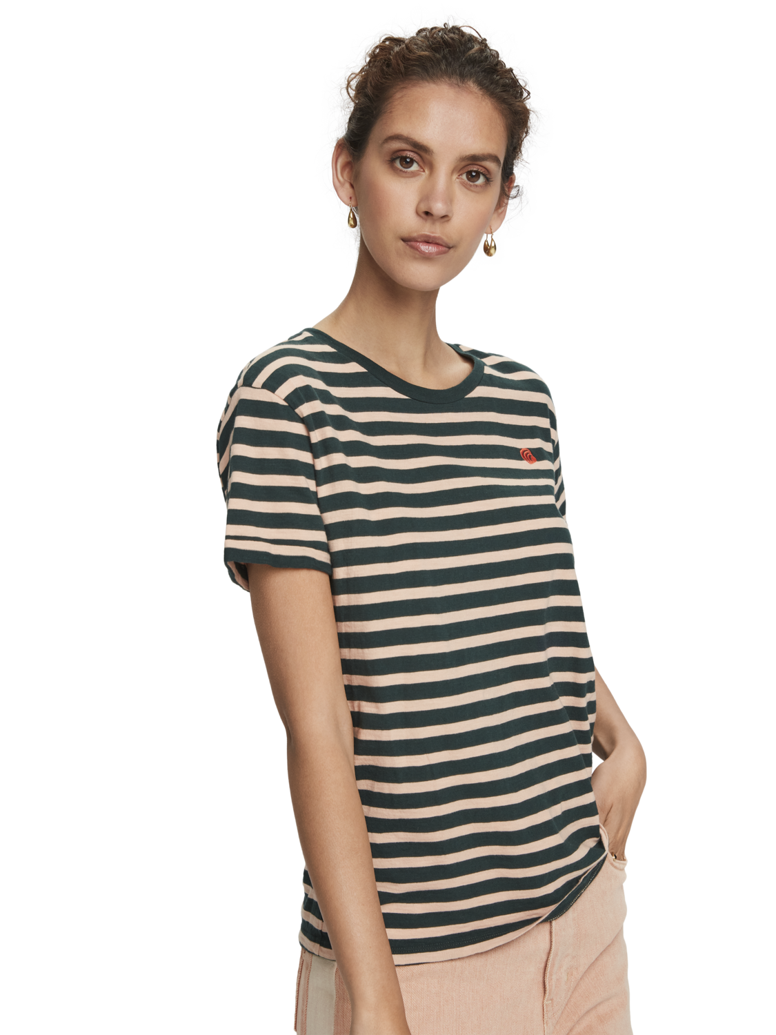 Women Striped organic cotton short sleeve t-shirt