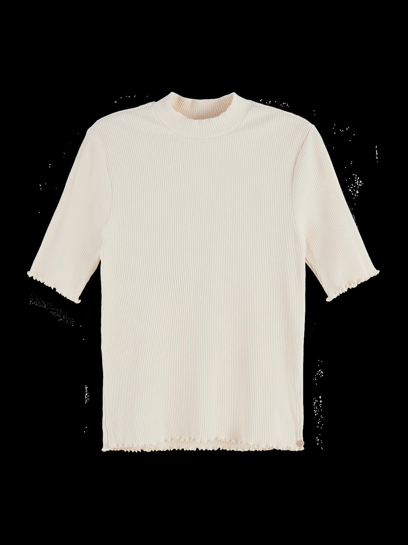 Damer Stretch rib knit high neck t-shirt