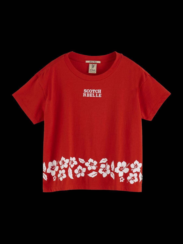 Girls Short Sleeved Artwork T-Shirt