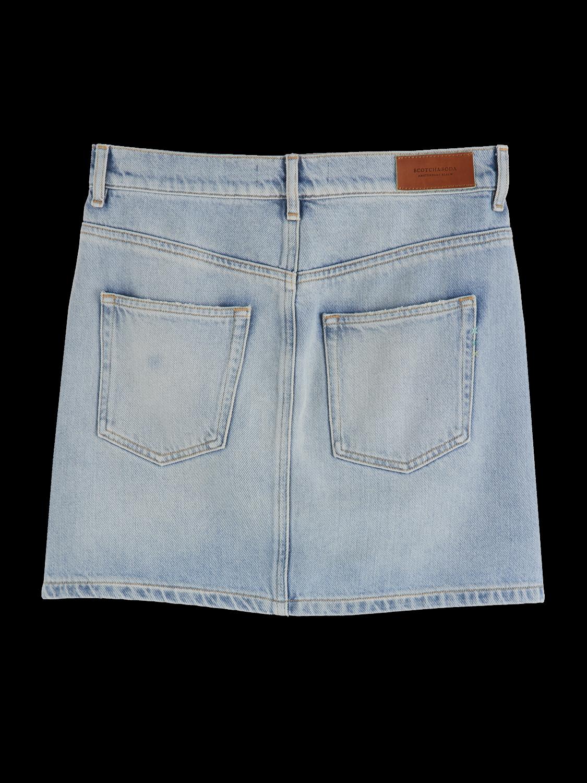 Women Five pocket denim mini skirt
