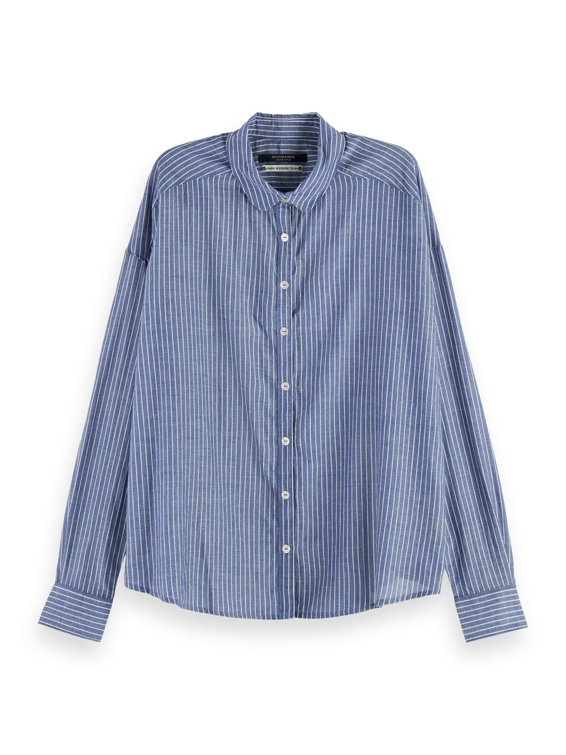 Damer Long sleeve striped button up shirt