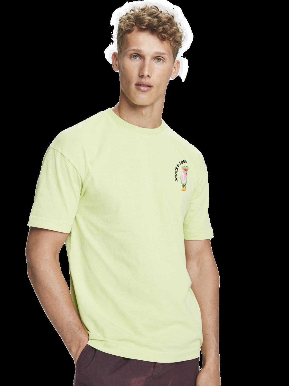 Men Parrot artwork t-shirt