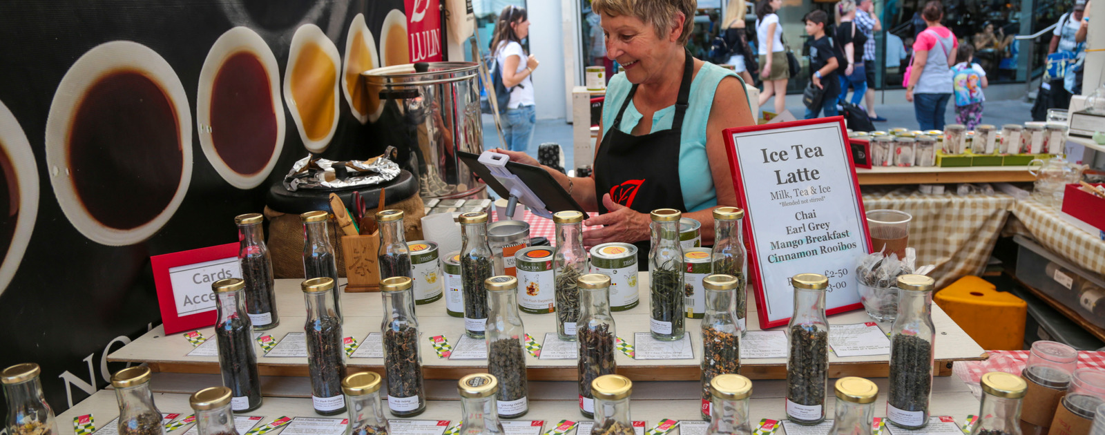 Lulin Teas Stall at the Southbank Centre Food Market