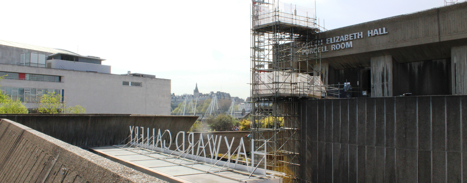 Outside view of the Queen Elizabeth Hall and Hayward Gallery refurbishment at the Southbank Centre