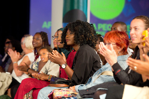Audience at Catwalk at Africa Utopia Festival 2015 at the Southbank Centre