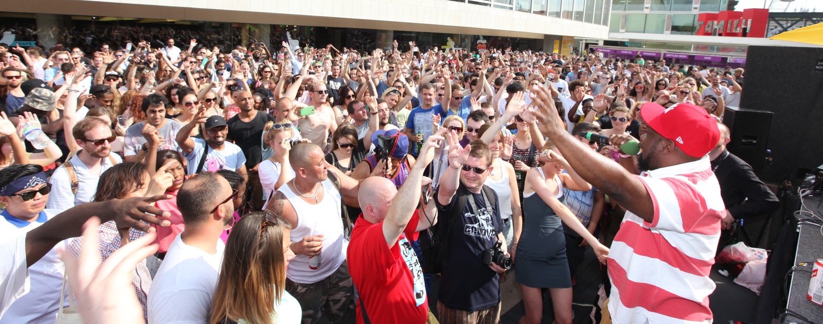 Hip Hop terrace party during Urban Weekend at the Southbank Centre