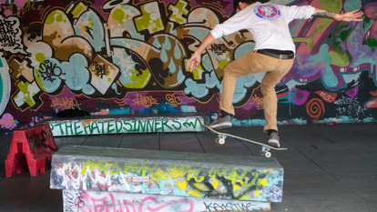 Skaters at Southbank Centre Skate Park