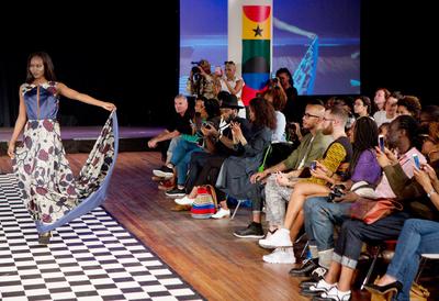 Model at Africa Utopia 2015 Catwalk