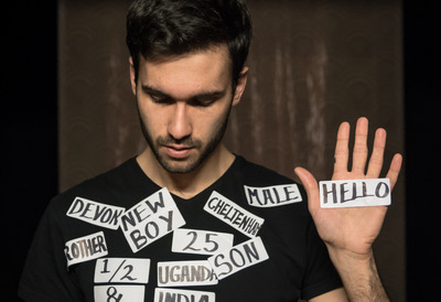 Man wearing LABELS