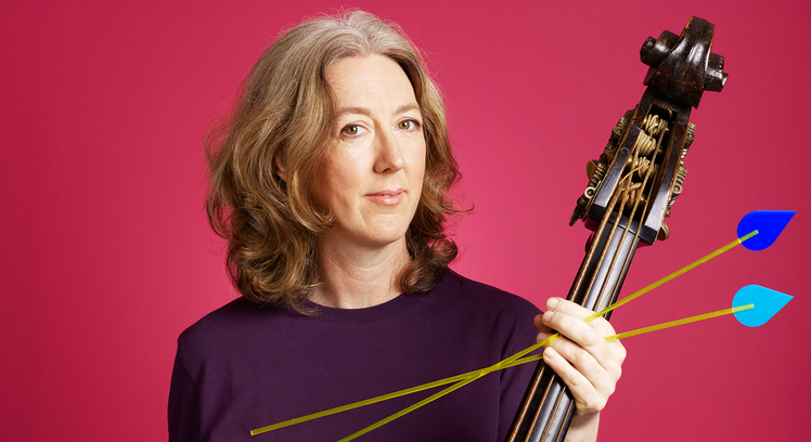 Photo of Cecila Bruggemeyer, double bassist with the Orchestra of the Age of Enlightenment, who perform Handel's Semele at Southbank Centre