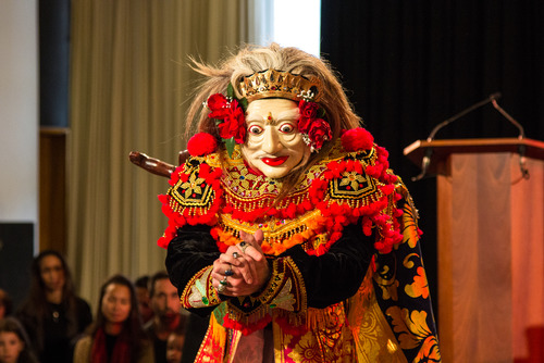 Traditional Indonesian performer during Discover Indonesia at the Southbank Centre