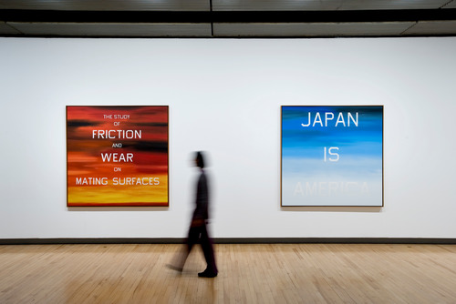 Installation View by artist, Ed Ruscha at Hayward Gallery