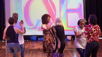 Couples Dancing at Social Dance