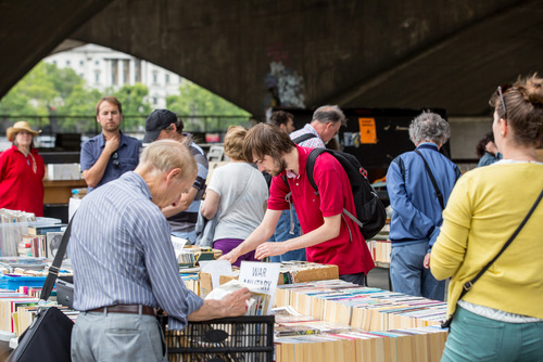 People at the Southbank Centre Book Market