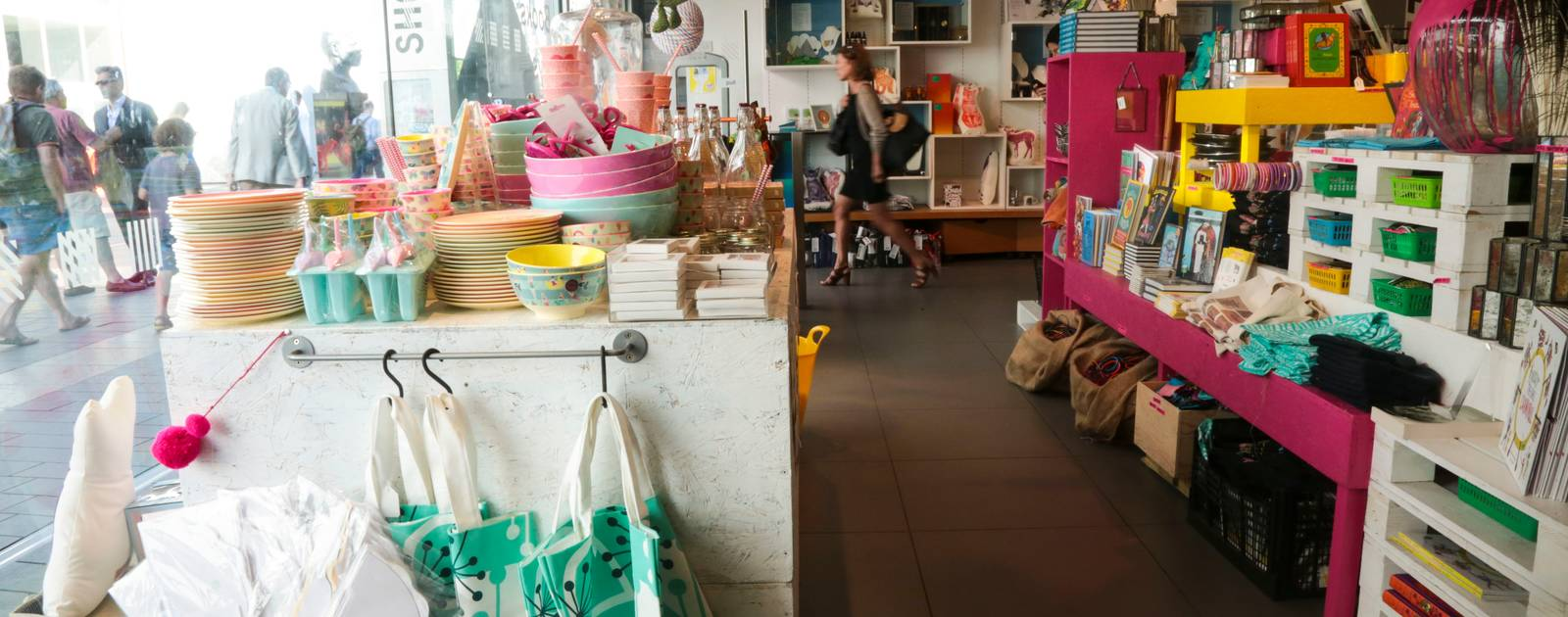 Customers at the Southbank Centre Shops