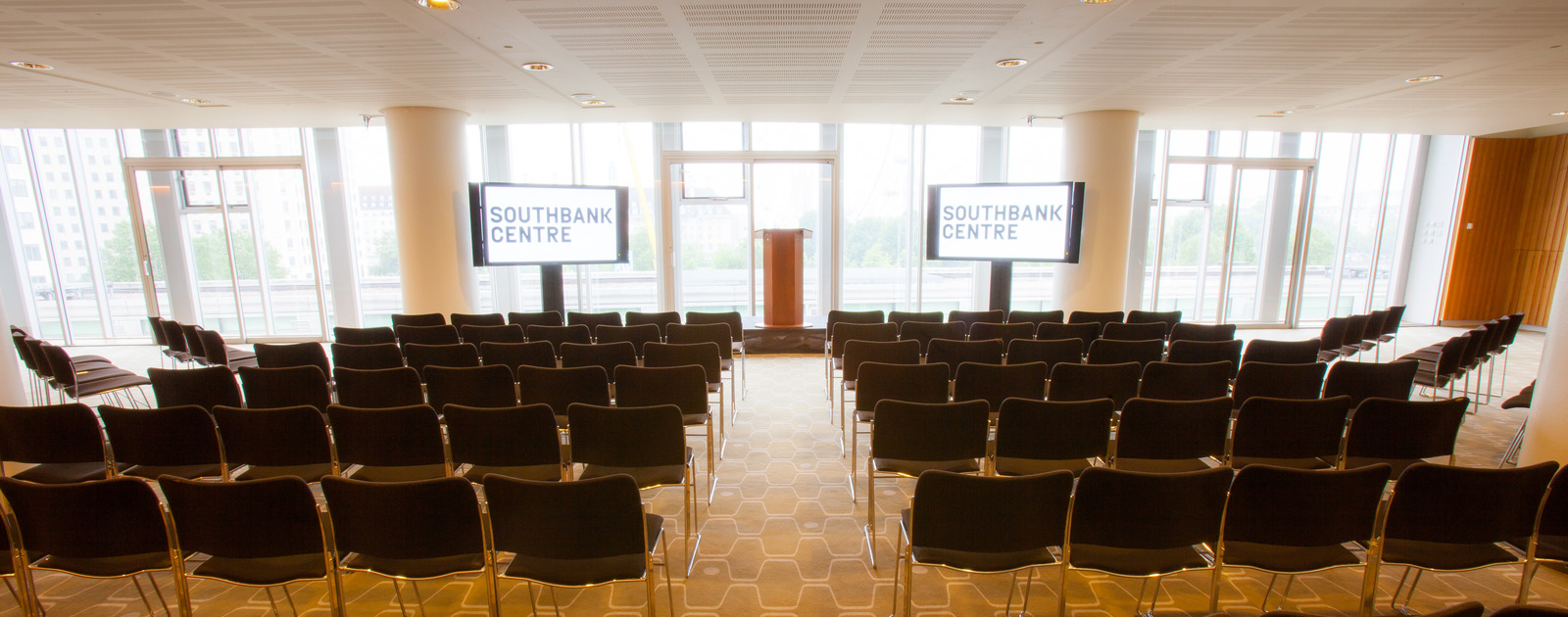 View of the level 5 function room at the Southbank Centre