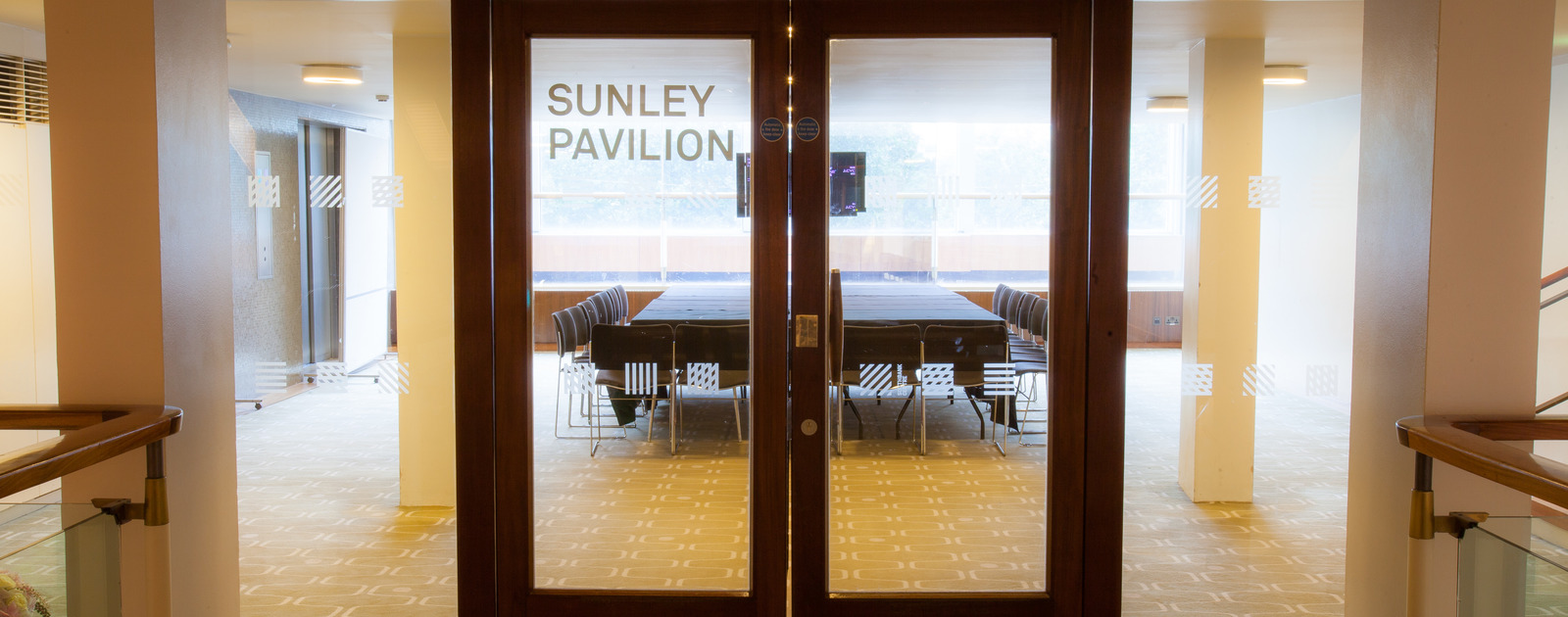 View of the Sunley Pavilion at the Southbank Centre