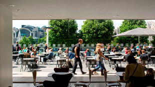View of the Riverside Terrace Cafe at the Southbank Centre