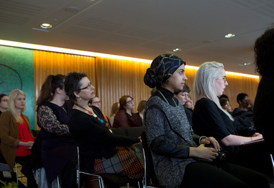 Women at Who's Afraid of a Feminist Foreign Policy Talk