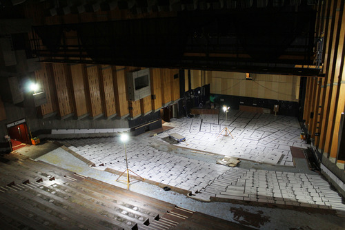 Interior view of the renovation of the Queen Elizabeth Hall, Southbank Centre