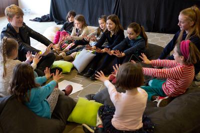 Children at Under 10's Feminist Corner workshop