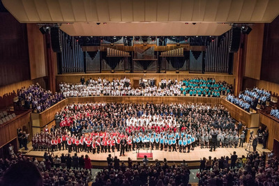 Youth Orchestra on the stage of Royal Festival Hall
