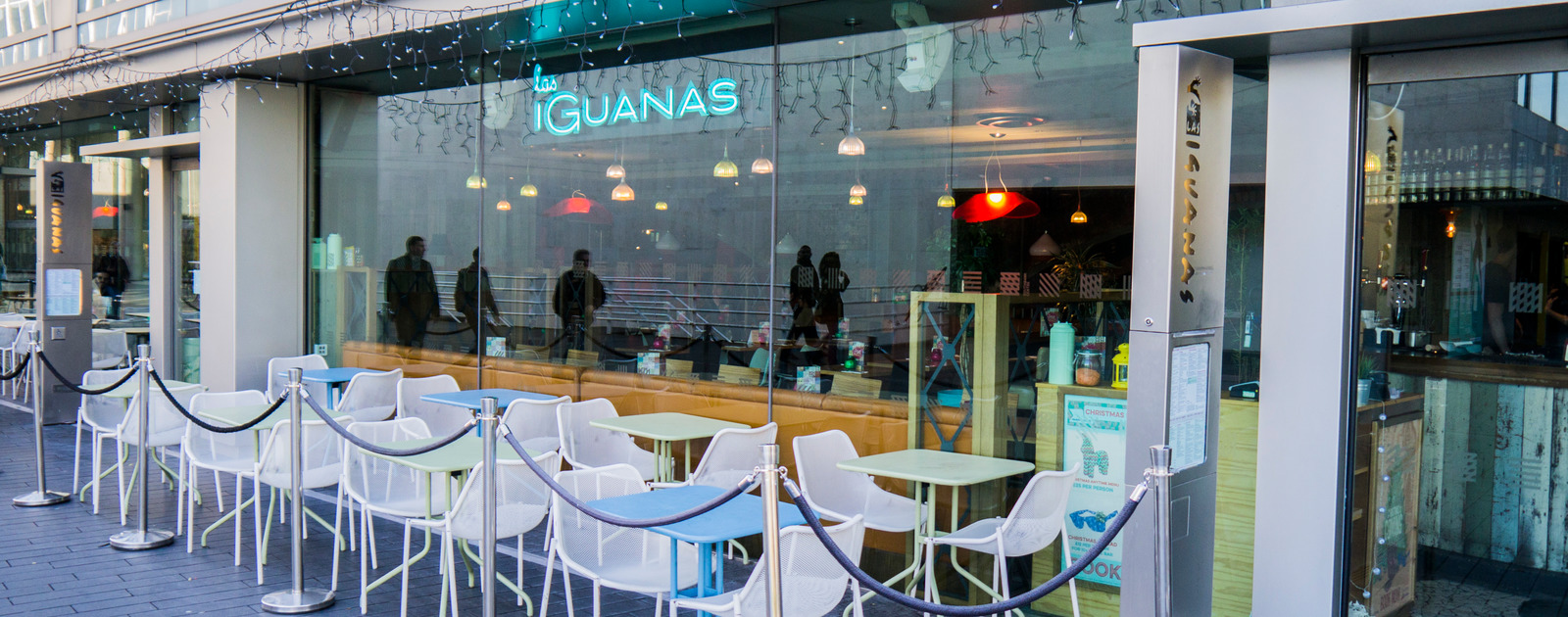 Exterior view of Las Iguanas at the Southbank Centre