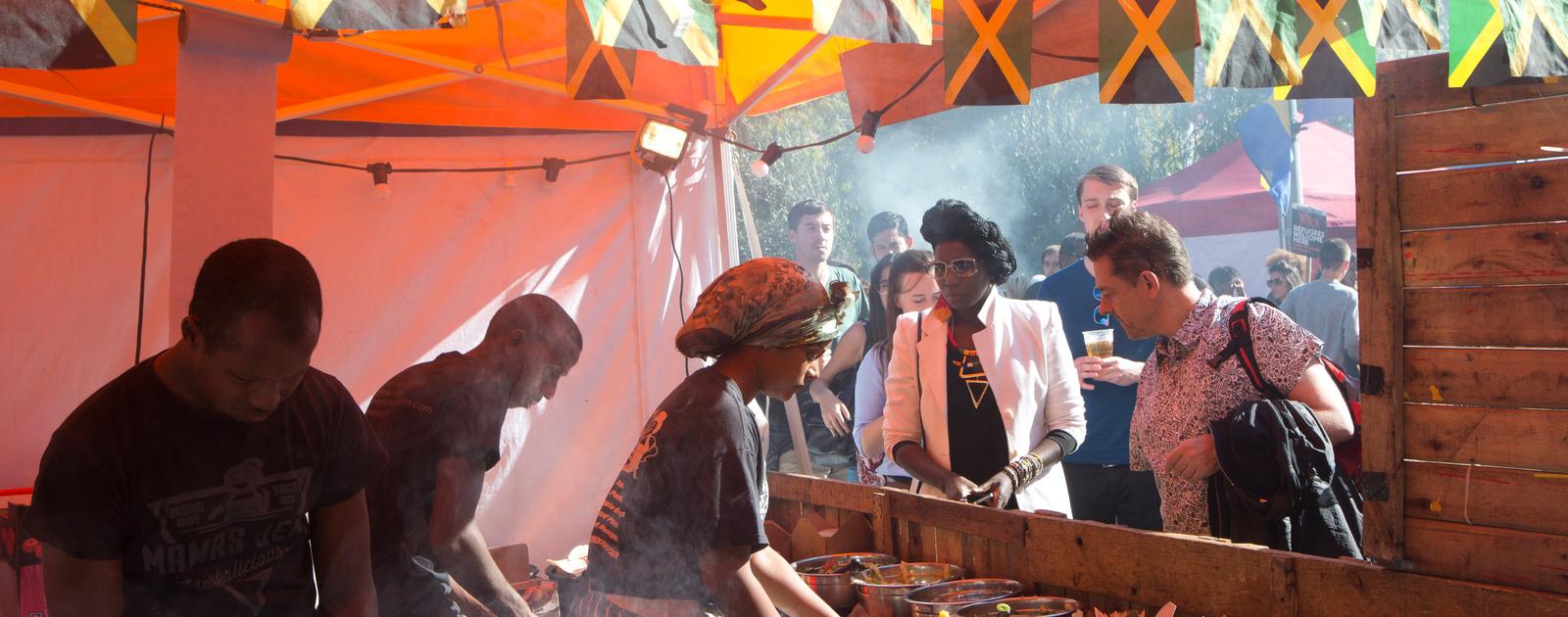 Market vendors at the Africa Utopia Market, Southbank Centre