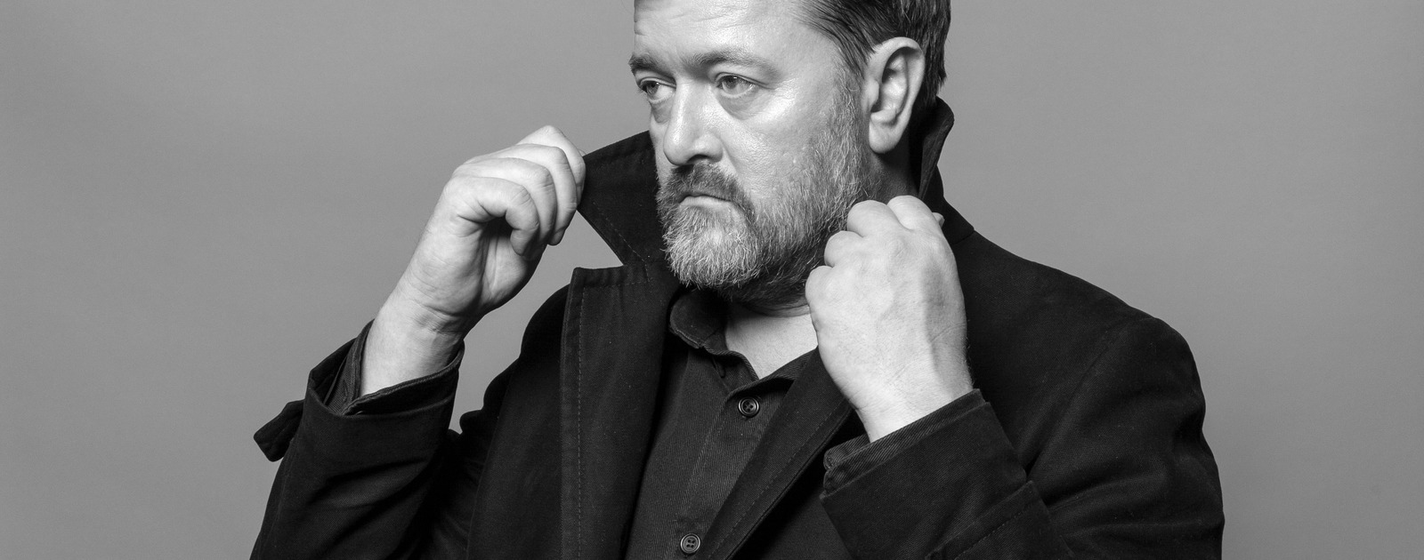 Singer, Songwriter and guitarist with the band Elbow, Guy Garvey shot at the Albert Hall in Manchester for the Guardian Weekend Magazine..