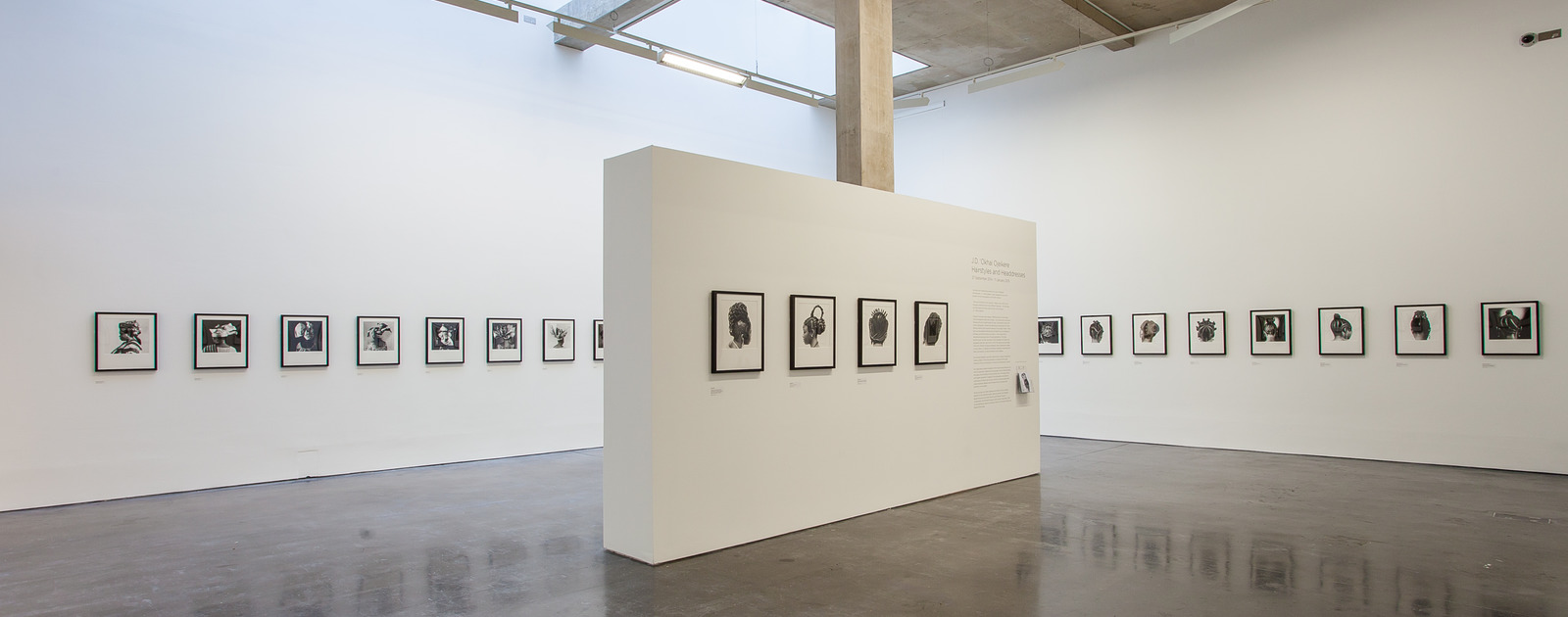 Installation View of  J.D 'Okjhai Ojeikere - Hairstyles and Headdresses