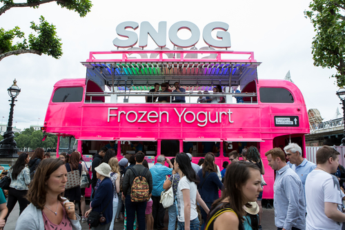 SNOG Frozen Yoghurt Bus at Southbank Centre