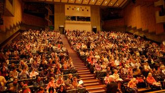 Audience seated in the Queen Elizabeth Hall Auditorium