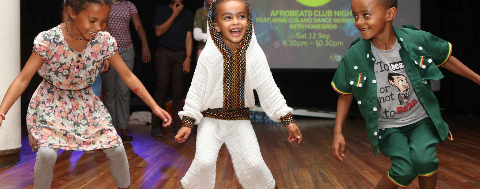 Children Dancing at Africa Utopia Saturday 2015 at the Southbank Centre
