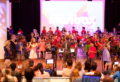 Young performers at Lambeth Musitrax