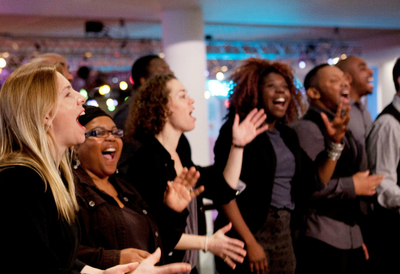 Singers performing at Southbank Centre's Big Sing