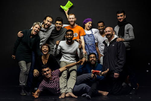 Photo of performers in Borderline: a comedy about a tragedy