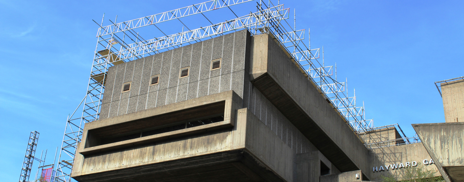 Exterior view of the Hayward Gallery refurbishment at the Southbank Centre
