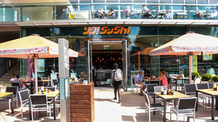 Yo Sushi Restaurant at the Southbank Centre