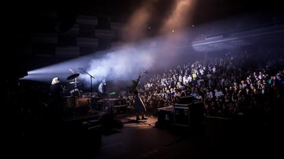 Crystal Castles performing at M.I.A.'s Meltdown Festival