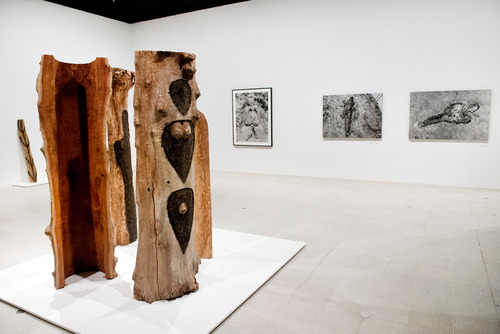 Totem series by artist, Ana Mendieta at Hayward Gallery