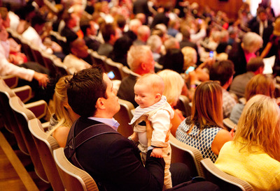 Father with Baby in Audience