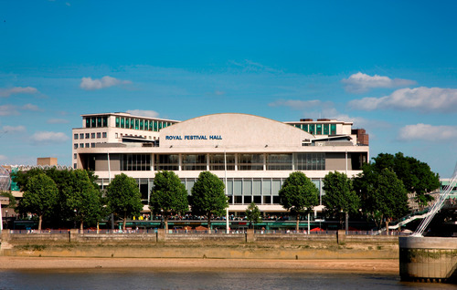 View of the Royal Festival Hall from across the river