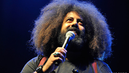 Reggie Watts performs in the Royal Festival Hall as part of Yoko Ono's Meltdown